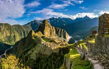 Machu Picchu Inkastätte In Peru