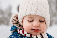 Close-up Of Cute Baby Boy Look...