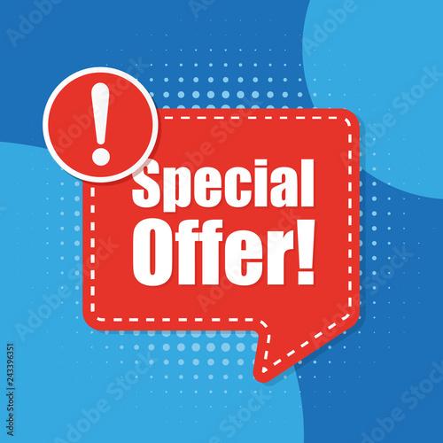 Fotografía  Special offer vector background