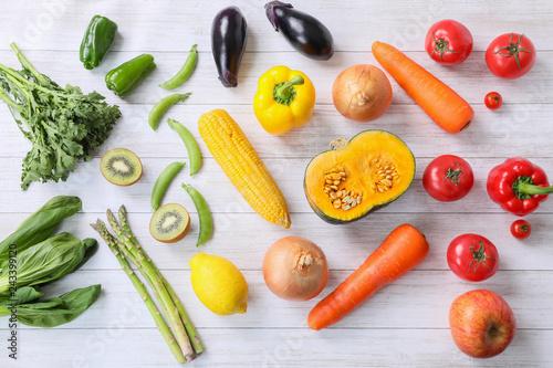 Fototapeta 色分けされた野菜 obraz
