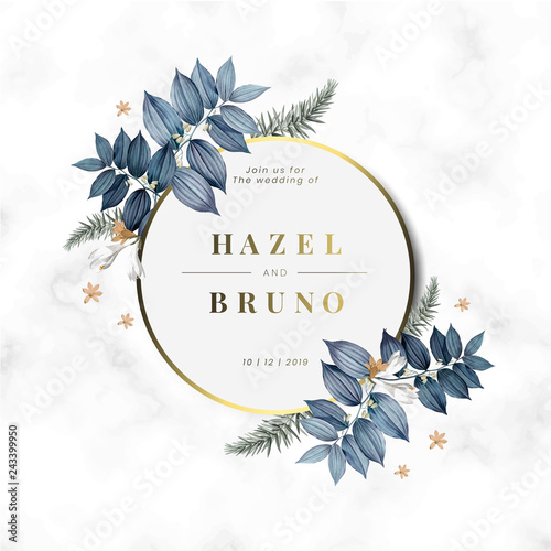 Floral Wedding Invitation Card Design Vector Kup Tę
