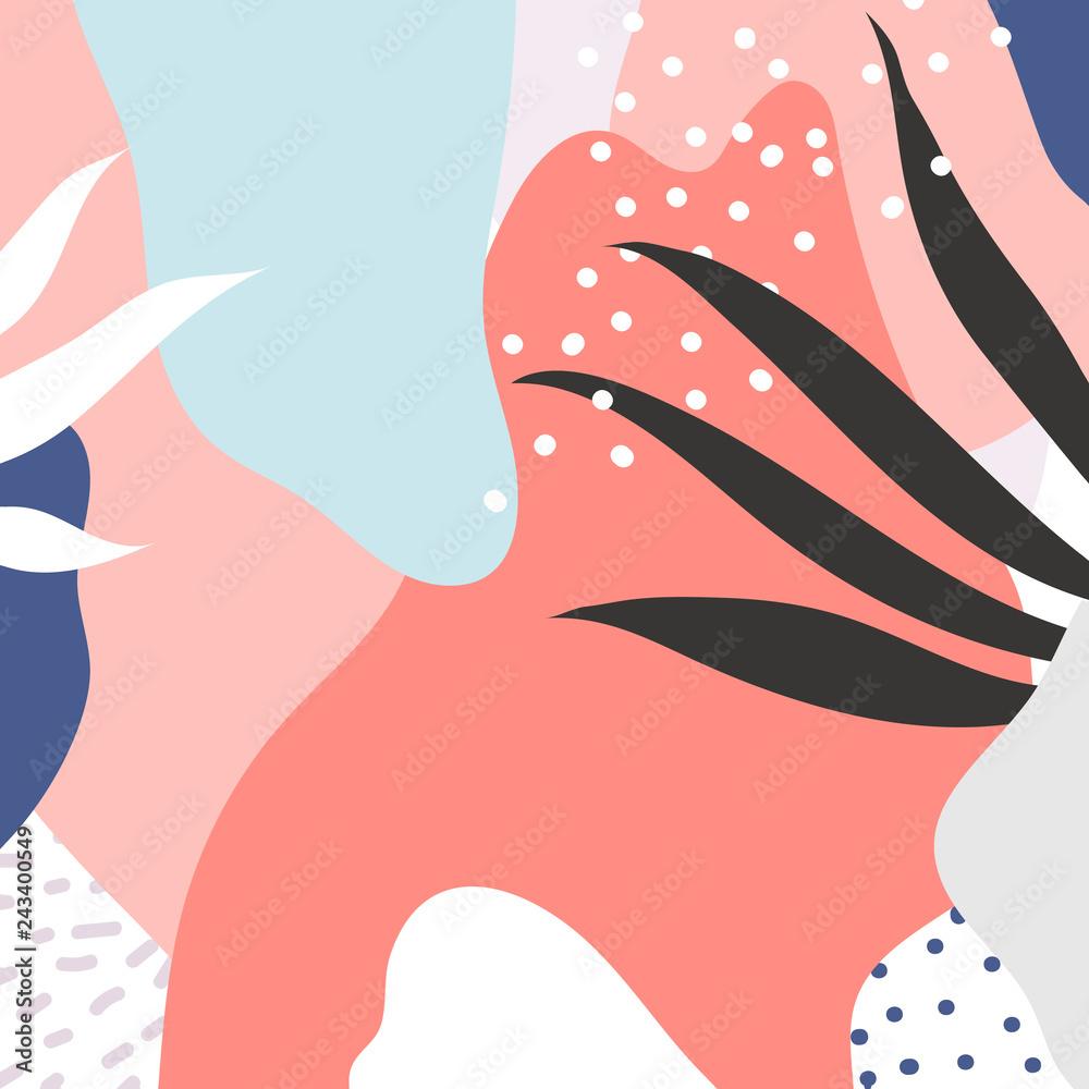 Fototapeta Colorful Memphis design background vector
