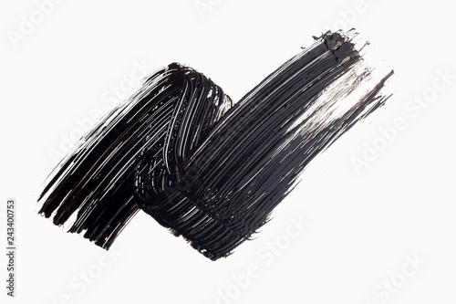Valokuva  mascara texture with white background