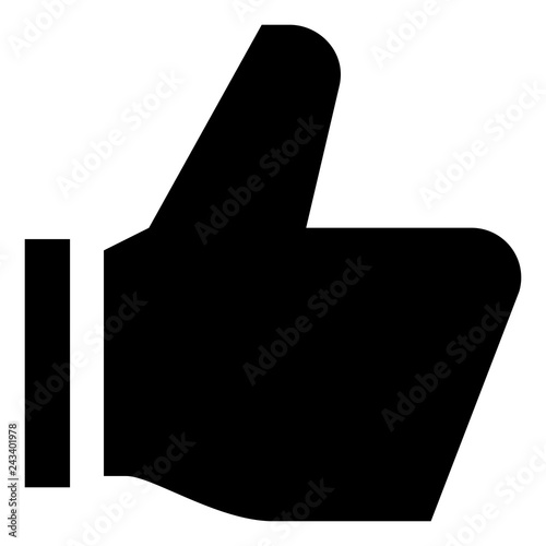 Thumbs Up Like Vector Icon Canvas Print