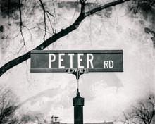 Peter Pete Name Street Sign