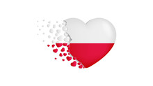 National Flag Of Poland In Hea...