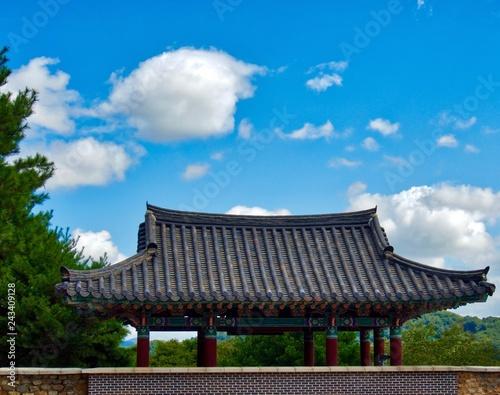 Fotografie, Obraz  한국의 전통집 한옥 지붕