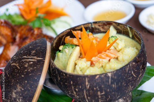 Vegetarain Amok Cambodian food recipe