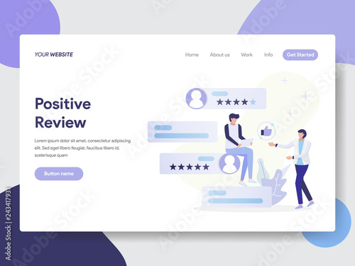 Fotografía  Landing page template of Positive Review Illustration Concept