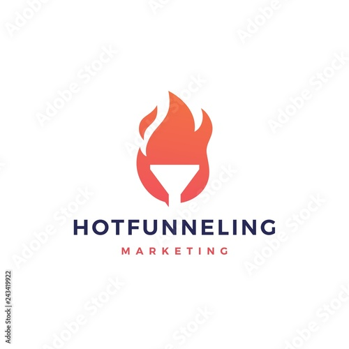 hot funneling logo icon vector illustration Canvas Print