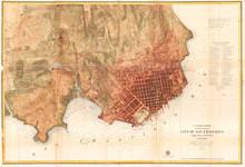 Old Map Of San Francisco, Cali...