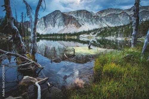 Fotografie, Obraz  Summer Mirror Lake in the Snowy Range Mountains