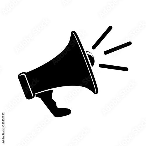 Fotografia Simple Vector Megaphone or Bull Horn