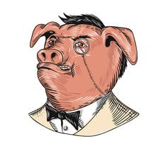 Aristocrat Pig Monocle Tuxedo ...