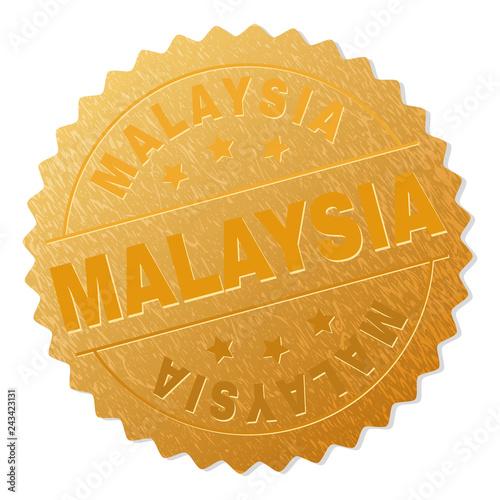 Fotografía  MALAYSIA gold stamp badge