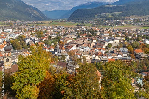 Fotografía  Blick über Bruneck, Südtirol
