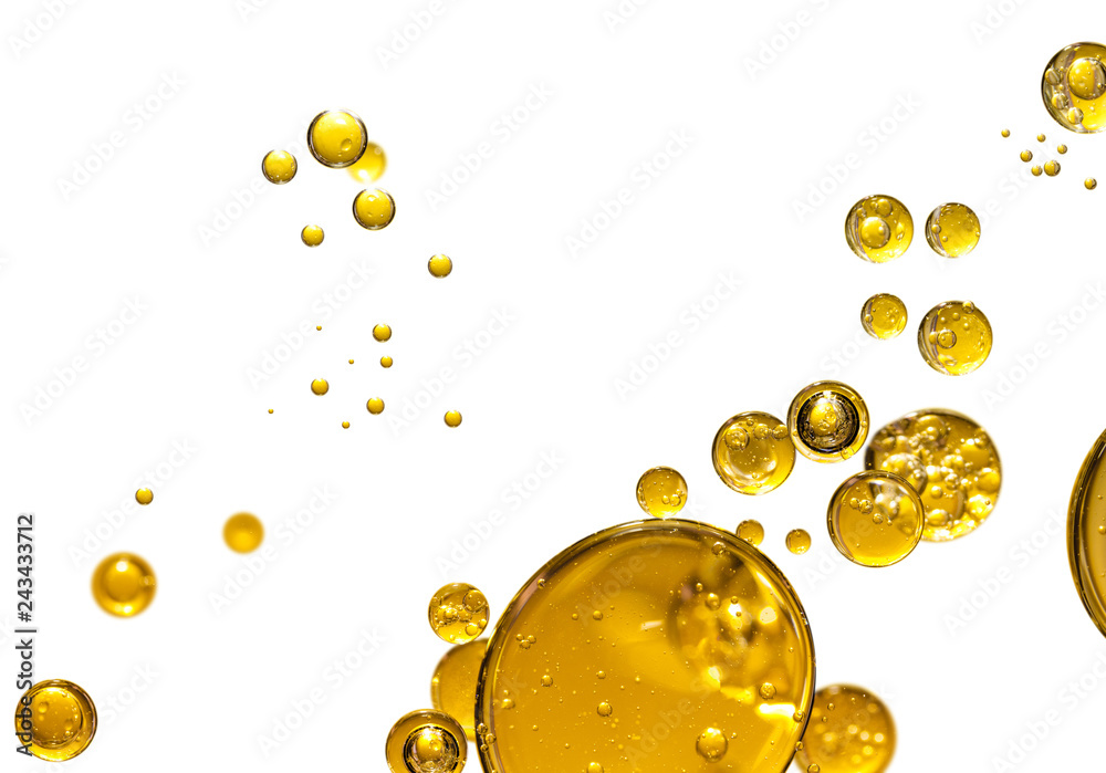 Fototapety, obrazy: golden yellow bubble oil, abstract background