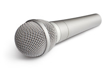 Close-up Of Wireless Microphone, Isolated On White Background