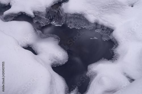 Obraz na plátně  Melting ice on river