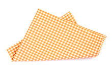 Orange Brown Checkered Napkin ...