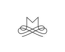 Linear Monogram Vector Symbol ...