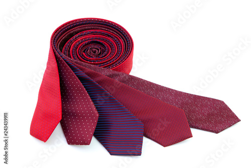 Fotografie, Obraz  Rolled red ties