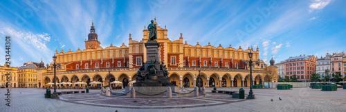 Main Market Square in Krakow,panorama