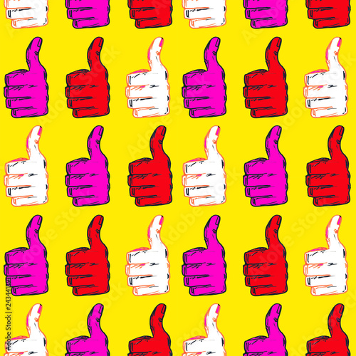 Seamless pattern of the fingers