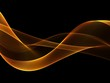 canvas print picture - Abstract Golden waves background
