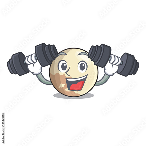 Photo  Fitness planet pluto in the cartoon form