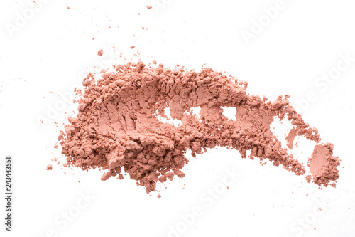 Valokuvatapetti Smear from dry red cosmetic clay