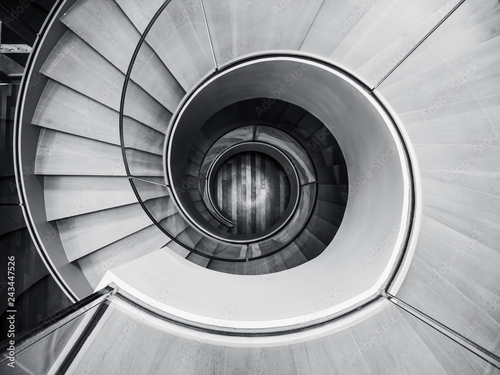 Fototapeta Spiral staircase Modern Architecture detail Abstract Background