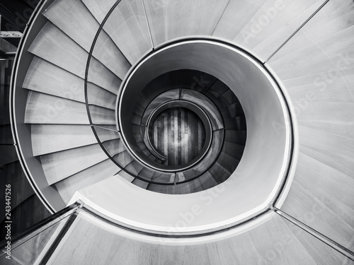 Foto auf Gartenposter Spirale Spiral staircase Modern Architecture detail Abstract Background