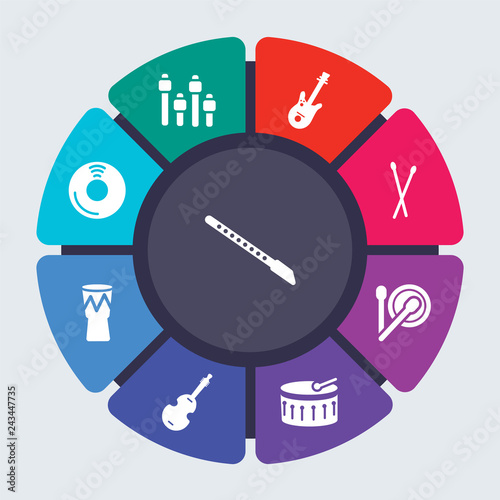 Strange Music Vector Template For Infographics Business Concept With 9 Wiring Database Gramgelartorg
