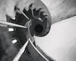 Spiral staircase Steel Handrail Cement construction Architecture details