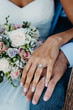 canvas print picture - The wedding rings