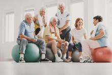 Group Of Happy Senior Sitting ...