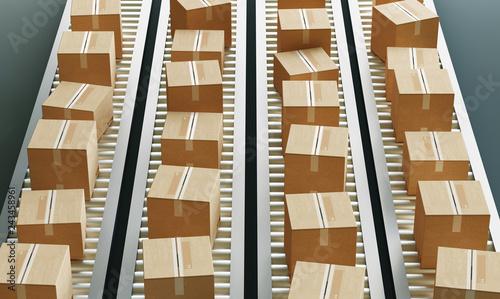 Obraz Cartboard boxes - fototapety do salonu