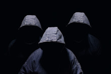 Three Mysterious Men Silhouett...