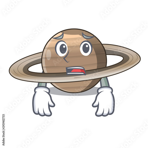 Fotografía  Afraid planet saturn in the cartoon form