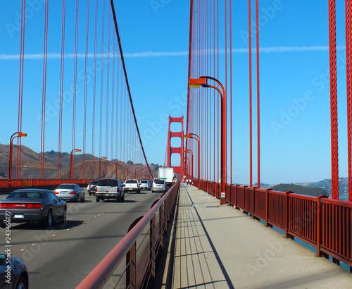 Keuken foto achterwand Amerikaanse Plekken Golden Gate Bridge