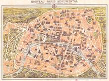 1900, Garnier Pocket Map Or Pl...