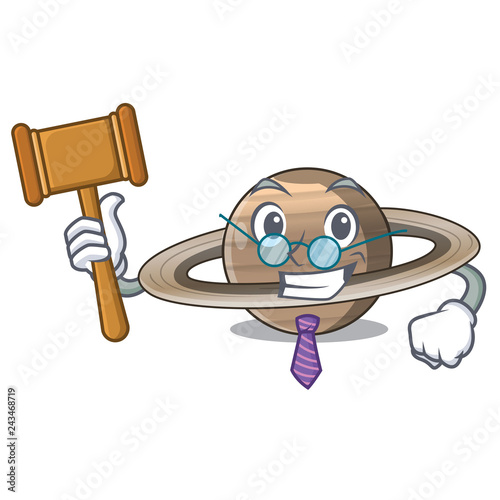 Foto  Judge planet saturn above the sky cartoon