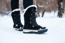 Black Winter Women's Boots Wit...