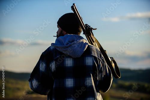Guy hunter spend leisure hunting Tapéta, Fotótapéta