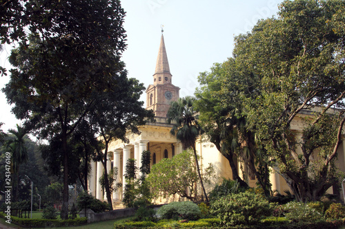 Fototapeta St John s Church in the BBD Bagh district of Kolkata with its impressive colonnades and stone spire was built in 1787
