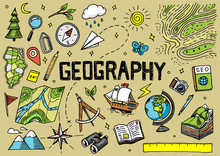 Set Of Geography Symbols. Equi...