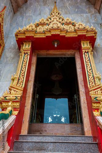 Poster Pekin the shrine of the Buddhist temple Wat Chalong on Phuket island of Thailand