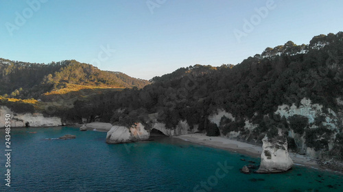 Deurstickers Cathedral Cove Amazing aerial view of Cathedral Cove, coast of Coromandel, New Zealand