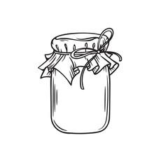 Jar Of Honey Or Glass Jar